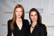 Models Caroline Silta and Vasilisa Pavlova attend 2016 GEM Awards Gala at Cipriani 42nd Street on January 8, 2016 in New York City.