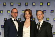 (L-R) Chad Griffin, Sigourney Weaver and David Hyde Pierce attend 2016 Human Rights Campaign New York Gala Dinner at The Waldorf=Astoria on February 6, 2016 in New York City.