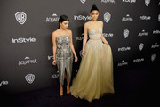 TV personalities Kourtney Kardashian (L) and Kylie Jenner  attends InStyle and Warner Bros. 73rd Annual Golden Globe Awards Post-Party at The Beverly Hilton Hotel on January 10, 2016 in Beverly Hills, California.