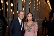 CEO and Wallis Annenberg Director of LACMA Michael Govan (L) and host Eva Chow, wearing Gucci, attend the 2016 LACMA Art + Film Gala Honoring Robert Irwin and Kathryn Bigelow Presented By Gucci at LACMA on October 29, 2016 in Los Angeles, California.