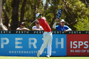 Jin Jeong of Korea tees off on the 15th hole during day one of the 2016 Perth International at Lake Karrinyup GC on February 25, 2016 in Perth, Australia.