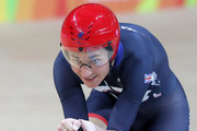 Sarah Storey of Great Britain competing in the womens C5 3000m individual pursuit track cycling on day 1 of the Rio 2016 Paralympic Games at the Olympic Velodrome on September 8, 2016 in Rio de Janeiro, Brazil.