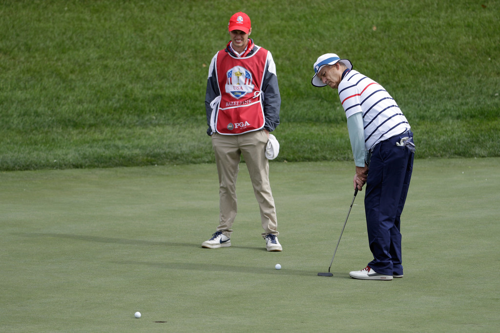 bill murray in 2016 ryder cup celebrity matches zimbio. Black Bedroom Furniture Sets. Home Design Ideas