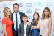 "(L-R) Executive producer Samantha Bee, actor/executive producer Jason Jones, actors Liam Carroll, Ashley Gerasimovich and Natalie Zea of ""Detour"" attend the 2016 TCA Turner Winter Press Tour Presentation at the Langham Hotel on January 7, 2016 in Pasadena, California. 25807_001"