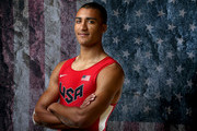 Decathlete Ashton Eaton poses for a portrait at the 2016 Team USA Media Summit at The Beverly Hilton Hotel on March 7, 2016 in Beverly Hills, California.