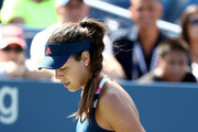 Ana Ivanovic of Serbia reacts against Denisa Allertova of Czech Republic during her first round Women's Singles match on Day Two of the 2016 US Open at the USTA Billie Jean King National Tennis Center on August 30, 2016 in the Flushing neighborhood of the Queens borough of New York City.