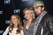 (L-R) Actors Madison Iseman,  Joey Lauren Adams and Billy Ray Cyrus attend the 2016 Viacom Kids and Family Group Upfront on March 3, 2016 in New York City.
