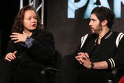 Actress Samantha Morton and actor Tahar Rahim speak onstage during The Last Panthers panel as part of the AMC Networks portion of This is Cable 2016 Television Critics Association Winter Tour at Langham Hotel on January 8, 2016 in Pasadena, California.