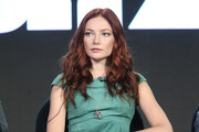 Actress Clara Paget listens onstage during the Black Sails panel as part of the Starz portion of This is Cable 2016 Television Critics Association Winter Tour at Langham Hotel on January 8, 2016 in Pasadena, California.