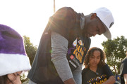 Luol Deng #9 of the Los Angeles Lakers and East West Bank conclude A Season of Giving with the annual Holiday Party for Kids in El Segundo, California.  NOTE TO USER: User expressly acknowledges and agrees that, by downloading and or using this photograph, User is consenting to the terms and conditions of the Getty Images License Agreement. Mandatory Copyright Notice: Copyright 2017 NBAE