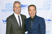 Robert  Kennedy Jr. and Jeff Koons attend the 2017 Art For Water To benefit Waterkeeper Alliance at Sotheby's on February 6, 2017 in New York City.