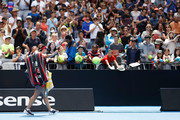 Jelena Jankovic of Serbia walks off court after her third round match against Svetlana Kuznetsova of Russia on day five of the 2017 Australian Open at Melbourne Park on January 20, 2017 in Melbourne, Australia.