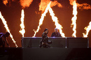 DJ David Guetta (R) and rapper Nicki Minaj perform onstage during the 2017 Billboard Music Awards at T-Mobile Arena on May 21, 2017 in Las Vegas, Nevada.