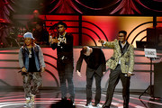 (L-R) Da Brat, Slick Rick, Christopher Reid and Christopher Martin of Kid N Play perform onstage at the 2017 Black Music Honors at Tennessee Performing Arts Center on August 18, 2017 in Nashville, Tennessee.