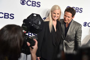Monica Potter and Mark Feuerstein attend the 2017 CBS Upfront on May 17, 2017 in New York City.