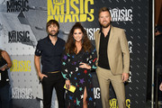 Musicians Dave Haywood, Hillary Scott, and Charles Kelley of Lady Antebellum attend the 2017 CMT Music awards at the Music City Center on June 7, 2017 in Nashville, Tennessee.