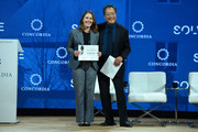 Cellist Yo-Yo Ma, Curator of the MIT Solve Arts and.Culture Mentorship Prize, presents the award onstage during The 2017 Concordia Annual Summit at Grand Hyatt New York on September 18, 2017 in New York City.