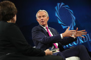 Tony Blair, Chairman, European Council on Tolerance and Reconciliation & Former Prime Minister, United Kingdom of Great Britain and Northern Ireland, speaks at The 2017 Concordia Annual Summit at Grand Hyatt New York on September 18, 2017 in New York City.