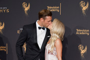 Brooks Laich (L) and Julianne Hough attend day 1 of the 2017 Creative Arts Emmy Awards at Microsoft Theater on September 9, 2017 in Los Angeles, California.