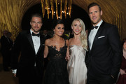 (L-R) Derek Hough, Hayley Erbert, Julianne Hough and Brooks Laich attend the 2017 Creative Arts Emmy Awards Creative Arts Ball on September 9, 2017 in Los Angeles, California.
