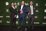 (L-R) Kyle Schmid, Barry Sloane, and Juan Pablo Raba attend the 2017 A+E Networks Upfront At Jazz At Lincoln Center's Frederick P. Rose Hall on March 21, 2017 in New York City.