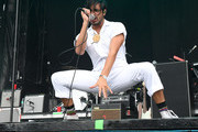 Musicians Sameer Gadhia (C) and Eric Cannata of the band Young the Giant perform at the Hangout Stage during 2017 Hangout Music Festival on May 21, 2017 in Gulf Shores, Alabama.