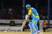 In this handout image provided by CPL T20, Jesse Ryder of St Lucia Stars bowled by Kevon Cooper of Trinbago Knight Riders during Match 6 of the 2017 Hero Caribbean Premier League between St Lucia Stars and Trinbago Knight Riders at Queen's Park Oval on August 7, 2017 in Port of Spain, Trinidad.