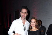 Actor Sacha Baron Cohen and actress Natalie Portman attend the 2017 Los Angeles Dance Project Gala on October 7, 2017 in Los Angeles, California.