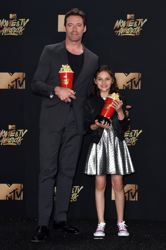 'Logan's Hugh Jackman & Dafne Keen Win Best Duo at MTV Movie & TV Awards, Are Far Too Pure for This Cold, Cold World