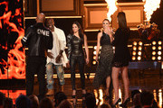 (L-R) Actors Vin Diesel, Tyrese Gibson, Michelle Rodriguez and Jordana Brewster accept the MTV Generation Award for 'The Fast and the Furious' franchise onstage during the 2017 MTV Movie And TV Awards at The Shrine Auditorium on May 7, 2017 in Los Angeles, California.