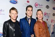 (L-R) Chris Chaney, Perry Farrell and Stephen Perkins of Jane's Addiction attend the 2017 Rhonda's Kiss Benefit Concert at Hollywood Palladium on December 8, 2017 in Los Angeles, California.  (Photo by Emma McIntyre/Getty Images for Rhonda's Kiss) *** Local Caption *** Chris Chaney; Perry Farrell; Stephen Perkins