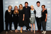 "(L-R) Screenwriter/producer Margaret Atwood,  producer Sarah Polley, actors Sarah Gadon, Edward Holcroft, director Mary Harron, actor Kerr Logan and executive producer Noreen Halpern attend Alias Grace"" Press Conference during the 2017 Toronto International Film Festival at TIFF Bell Lightbox on September 12, 2017 in Toronto, Canada."