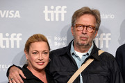 """Director Lili Fini Zanuck and musician Eric Clapton attend """"Eric Clapton: Life In 12 Bars"""" press conference during 2017 Toronto International Film Festival at TIFF Bell Lightbox on September 11, 2017 in Toronto, Canada."""