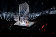 The 2017 Victoria's Secret models walk the runway as Harry Styles performs during the 2017 Victoria's Secret Fashion Show In Shanghai at Mercedes-Benz Arena on November 20, 2017 in Shanghai, China.