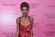 Amilna Estevao attends the 2017 Victoria's Secret Fashion Show In Shanghai After Party at Mercedes-Benz Arena on November 20, 2017 in Shanghai, China.