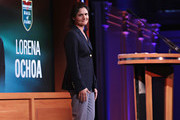 World Golf Hall of Fame Inductee  Lorena Ochoa speaks on stage during the 2017 World Golf Hall of Fame Induction Ceremony on September 26, 2017 in New York City.