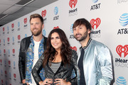 (L-R) Musicians Charles Kelley, Hillary Scott and Dave Haywood of Lady Antebellum attend the 2017 iHeartCountry Festival, A Music Experience by AT&T at The Frank Erwin Center on May 6, 2017 in Austin, Texas.