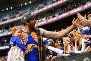 Josh Kennedy of the Eagles celebrates with the fans during the 2018 Toyota AFL Grand Final match between the West Coast Eagles and the Collingwood Magpies at the Melbourne Cricket Ground on September 29, 2018 in Melbourne, Australia.