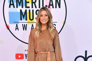 Renee Bargh attends the 2018 American Music Awards at Microsoft Theater on October 9, 2018 in Los Angeles, California.