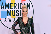 Erika Jayne attends the 2018 American Music Awards at Microsoft Theater on October 9, 2018 in Los Angeles, California.