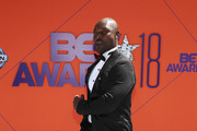 Jimmy Jean-Louis attends the 2018 BET Awards at Microsoft Theater on June 24, 2018 in Los Angeles, California.