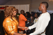 Mona Scott-Young (L) and Safaree Samuels attend day two of the 2018 BET Awards Radio Remotes on June 23, 2018 in Los Angeles, California.