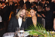 Zoe Saldana (R) and Marco Perego attend the 2018 Baby2Baby Gala Presented by Paul Mitchell at 3LABS on November 10, 2018 in Culver City, California.
