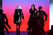 Recording artists Christina Aguilera (L) and Demi Lovato preform onstage during the 2018 Billboard Music Awards at MGM Grand Garden Arena on May 20, 2018 in Las Vegas, Nevada.