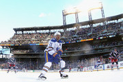Kyle Okposo #21 of the Buffalo Sabres skates against the New York Rangers during the 2018 Bridgestone NHL Winter Classic at Citi Field on January 1, 2018 in Flushing neighborhood of the Queens borough of New York City, New York. The Rangers defeated the Sabres 3-2 in overtime.