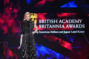 Cate Blanchett accepts the Stanley Kubrick Britannia Award for Excellence in Film presented by Cunard onstage at the 2018 British Academy Britannia Awards presented by Jaguar Land Rover and American Airlines at The Beverly Hilton Hotel on October 26, 2018 in Beverly Hills, California.