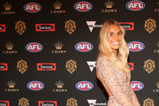 Hannah Davis arrives ahead of the 2018 Brownlow Medal at Crown Entertainment Complex on September 24, 2018 in Melbourne, Australia.