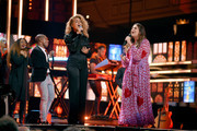 (L-R) Kirk Franklin, Tori Kelly and Hillary Scott onstage during the 2018 CMT Artists of The Year at Schermerhorn Symphony Center on October 17, 2018 in Nashville, Tennessee.