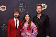 (L-R) Dave Haywood, Hillary Scott and Charles Kelley of musical group Lady Antebellum attend the 2018 CMT Artists of The Year at Schermerhorn Symphony Center on October 17, 2018 in Nashville, Tennessee.