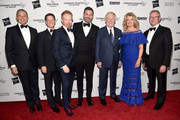 """Bob Iger, Brian Goldner, Jesse Tyler Ferguson, Jimmy Kimmel, Vin Scully, Mary Hart and Dr. Vaughn A. Starnes attend the 2018 Children's Hospital Los Angeles """"From Paris With Love"""" Gala at LA Live on October 20, 2018 in Los Angeles, California."""